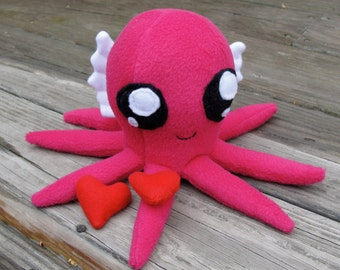 Pink Love Winged Octopus plushie