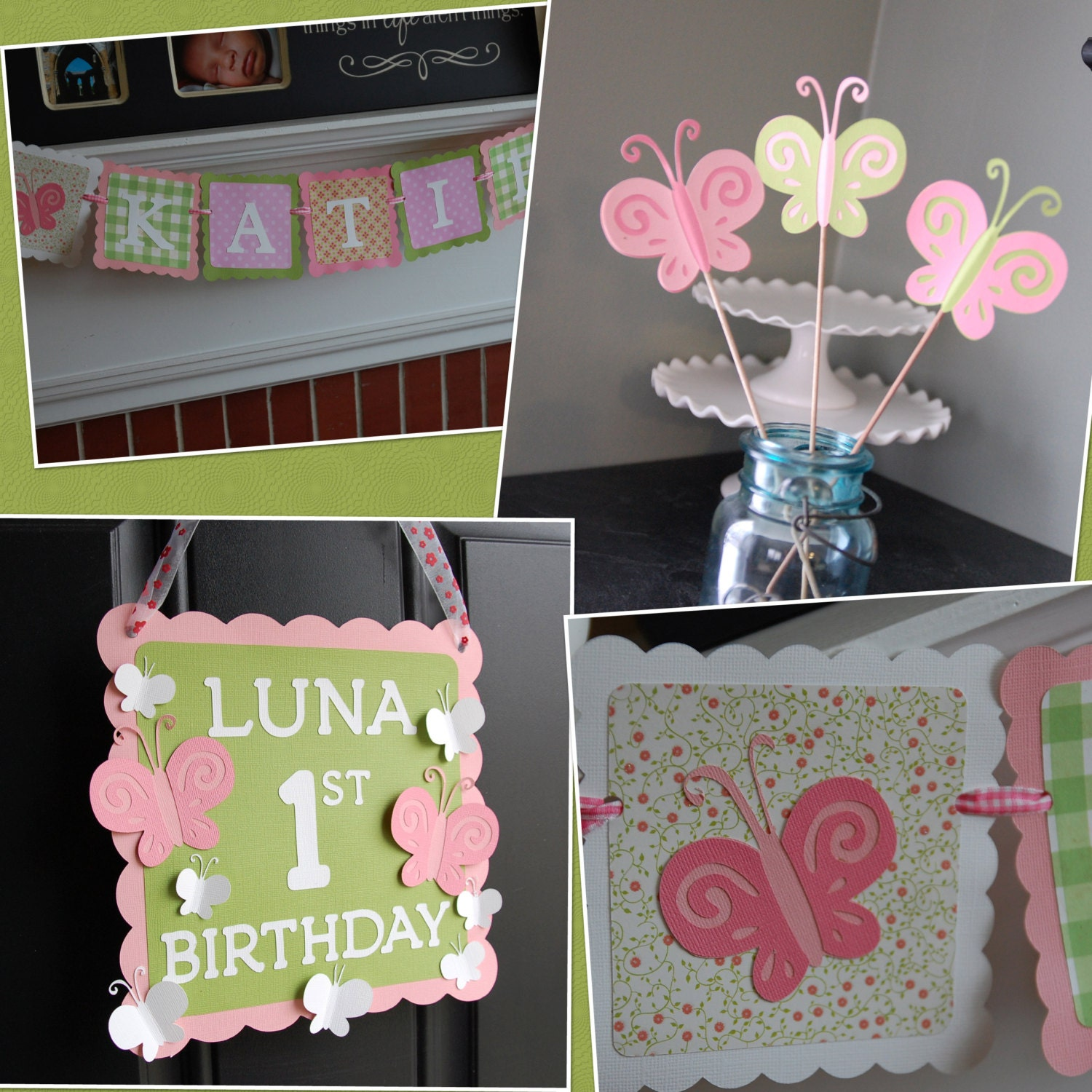 Butterfly Party Package Butterfly Birthday Decorations Name