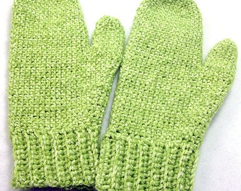 Faded Green Mittens