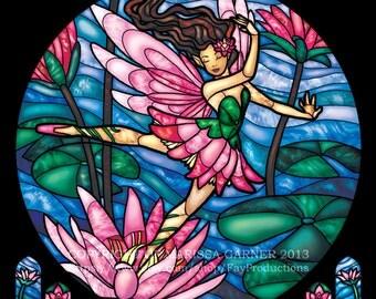 Rose Window - Summer Lily Fairy