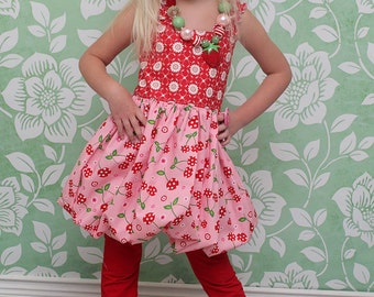Teagan's Fitted Bubble Dress PDF Pattern sizes 6-12 months to 8 NEW sizes