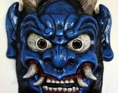 Demon Mask Japanese Oni (Blue)