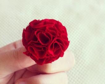 Red MINI Garden Pinks Brooch