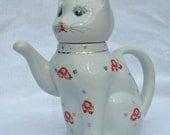Vintage Cat Teapot Lucky Cat Teapot
