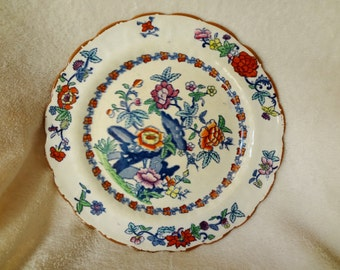 Vintage Booth's Silicon China Plate in The Pompadour