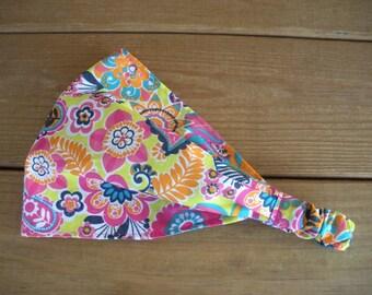 Womens Headband Fabric Headband Summer Fashion Accessories Women Headscarf Yoga Headband Bandana with Multicolor Paisley print