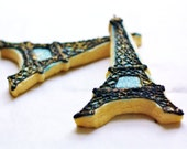 Eiffel Tower Decorated Sugar Cookies