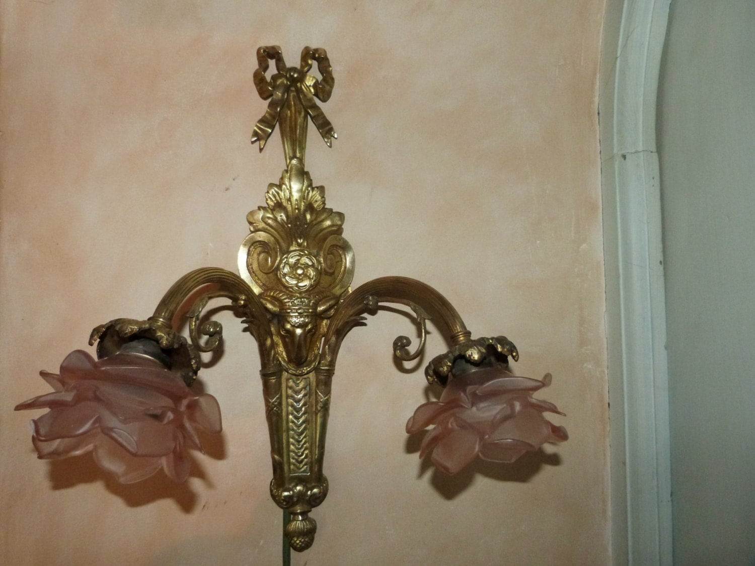 Antique French bronze wall sconce light by MyFrenchAntiqueShop