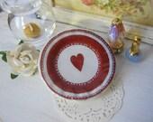 One Heart Dollhouse Plate