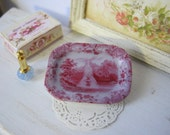 Pink Fountain Gardens Tray for Dollhouse