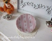 Country Floral Plate for Dollhouse