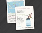 Maps/Directions/Inserts for Your Special Event (Can be done in any design found in shop or solid colors)