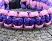 Dark Purple and Rosey Pink Two-Toned Paracord Survival Bracelet Women Graduation Gift Mothers Day
