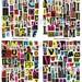 Printable Magazine Letter Cutouts, Black & Bright Set, Alphabet A-Z, Digital Collage Sheet, Teaching Materials, Phonics