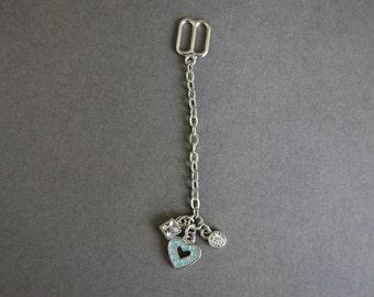 Blue Heart Chain Slide