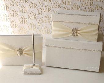 Wedding Card box, guestbook and pen set.