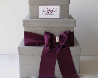 Wedding Card box Money Box (Rhinestones around the card slot)
