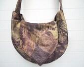 Hippie Boho Bag Purse Faux Suede Lace Pattern