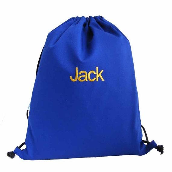 Personalised Cotton Backpack Drawstring Bag Swim Bag