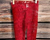 Lace leggings, baby leggings, baby leggins, red lace leggings lace tights lace leggings for baby baptism outfit, blessing outfit, pettiskirt