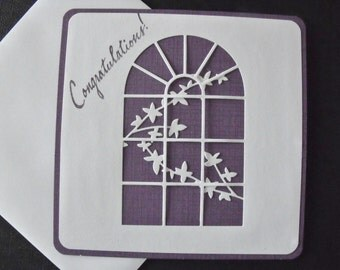 Handmade Congratulations Purple Greeting Card