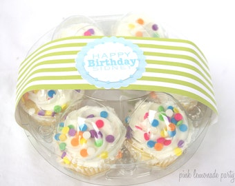 3CLeaR Round EGG Boxes--fill with mini cupcakes,easter eggs, cookies, fruit, hold cake balls,truffles or peepss-3ct