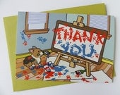Corgi Thank You Thanks Greeting Card