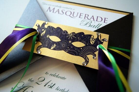 Items Similar To Arianne S Masquerade Ball Custom Invitation Suite