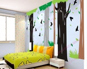 Tree Wall Decal   Wall sticker Naturegraphic mural-birds in Forest
