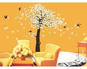 """cherry blossom tree wall decal wall decal wall sticker decal nature girl graphic mural- Cherry Blossom Tree100"""""""