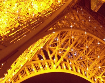 Eiffel Tower Photo, Eiffel Tower Photography, Paris Photography, Abstract, Starry, Urban Architecture Wall Art