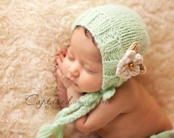Mint Blossom Bonnet