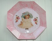 Vintage Baby Doll Decoupage Plate ES93454-S36