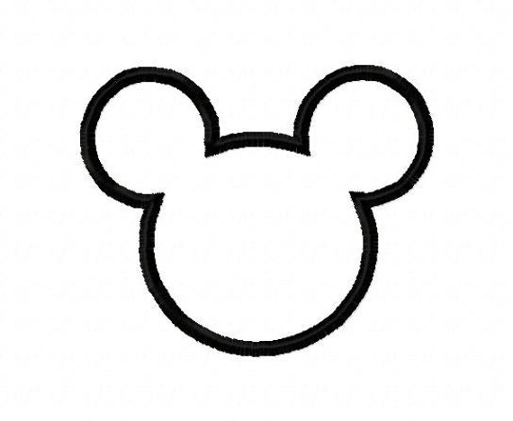 mickey mouse ears outline mickey mouse silhouette