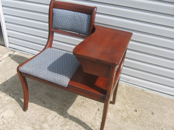 Items similar to Vintage Antique Phone Gossip Bench on Etsy