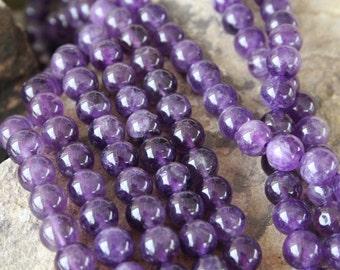 Amethyst(natural) 10mm Round Beads Strand, 16 Inch Strand(G01071)
