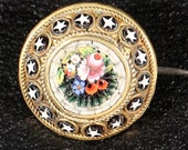 DONOTBUY RESERVED Antique Brooch Mosaic Brooch Small Brooch Antique Italian Floral Brooch