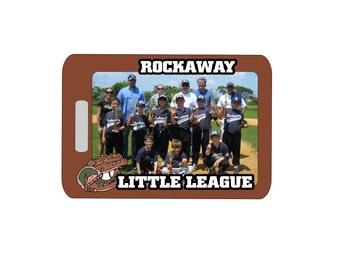 Baseball Luggage Tag - Home Plate, Baseball Tag, Luggage Tag, Baseball Bag Tag, Personalized Luggage Tag, Team Bag Tag, Sports Tag