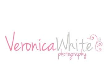 Premade Logo Design for Photographers and Small Crafty Boutiques Pink Text with Flourish
