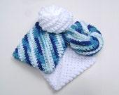 Crochet Scrubbies Tawashi Cotton Scrubby Kitchen Bath Wash Cloth Dish Cloth Face Scrubbies Set of 4