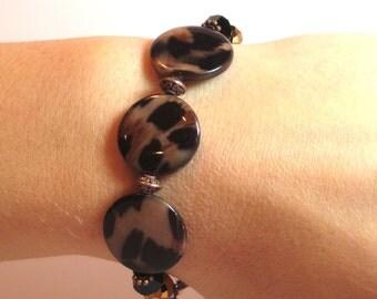 Leopard - COPPER Interchangeable Beaded Watch Band