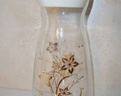 Vintage Pyrex Juice or Coffee Carafe with Gold Floral Design