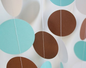 Baby Shower Decorations, Paper Garland .  5 Feet Long . Baby Boy