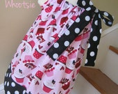 Valentine's Day Heart Cupcakes Polka Dot Pillowcase Dress 12 18 2 3 4 5 6 8