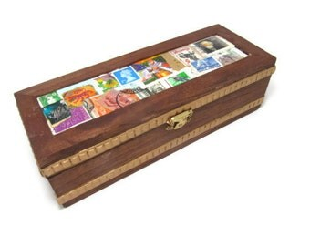Keepsake Box with Real Stamps