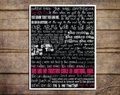 Custom Dave Matthews Band You & Me Lyrics | Valentine's Day Gift | Gift for boyfriend, girlfriend, husband, wife | Lyric Prints | Typography