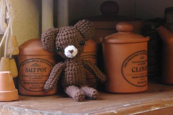Crochet teddy bear, amigurumi bear, teddy bear, chocolate brown