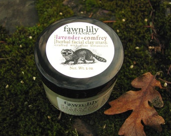 Lavender Flower & Comfrey Root Facial Clay Mask  - made from Botanicals