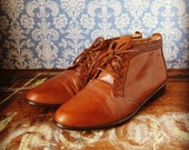 Woven Trim Bass Ankle Boots 7.5