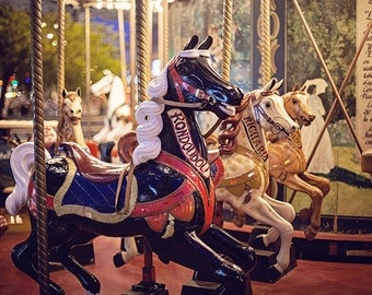 Paris Vintage Carousel Photography Print, Paris Carousel Photograph, Nursery Photography Decor, Vintage Paris Decor, Paris France Print